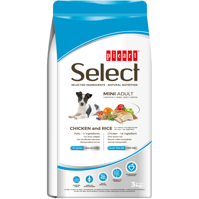 Picart Select Dog Adult Mini Chicken & Rice