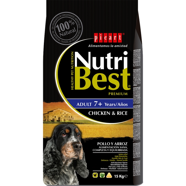 Picart Nutribest Dog Senior 15kg